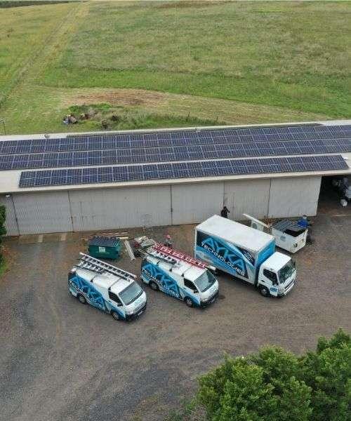 Commercial solar Installation project by AYKA SOLAR TEAM