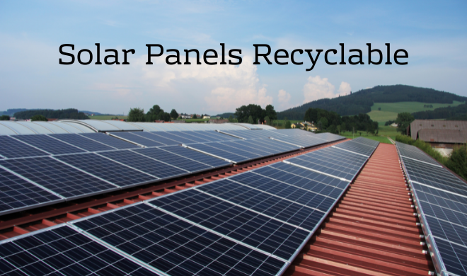 Solar Panels Recyclable