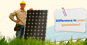 Difference in solar panel quotes